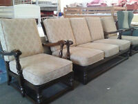 Ercol 3 seater sofa with 2 armchairs