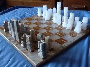 Games:Chess-onyx, wood, glass, 10 in 1 games Kitchener / Waterloo Kitchener Area image 1