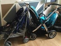 Babystyle Oyster Max Ocean Blue Maclaren Techno XT Medieval Blue Single Double Pushchair Buggy Pram