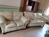 THREE SEATER AND TWO SEATER SETTEE WHITE £50