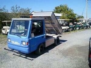 "2004 72 volt electric ""truck"" with hydraulic dump box"