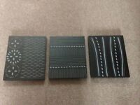 Next wood wall hangings,silver and black