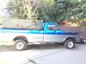 Located in Medicine Hat, 1978 ford f-150 4x4 has straight 6 300
