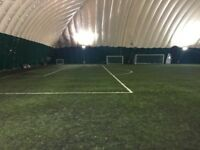 Friendly 9-a-side football every weekend in Crystal Palace Dome! Great pitch, great people!