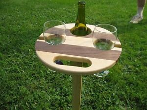 FOLD WINE TABLE AND STAND