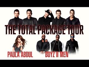 Two floor tickets for The Total Package Tour