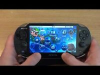 Playstation Vita slim plus 4 games, 16gb memory card and official carry case