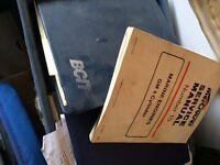 Several marine manuals -Mercury , BCTT etc.