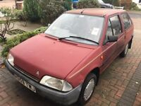 Citroen AX 10E very low mileage, one owner from new, good runner, needs tlc. Good for a first car .