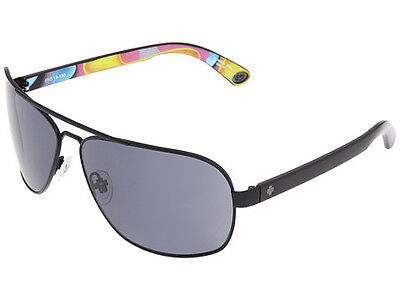 NIB BRAND NEW RETAIL SPY Optic Showtime Matte Black 93 Helmet Grey Sunglasses on Rummage