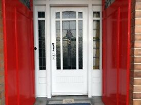 Leaded Glass Front Door ( 1936) -2ft 10 by 6ft 9and half Long -2ins thick.
