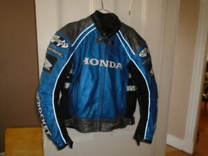 Leather Honda Biker Jacket - Joe Rocket - For Sale