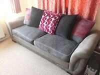 DFS Grey 3 Seater Sofa