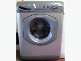Silver Hotpoint washing machine very reliable washes lovely first to see will buy can deliver