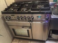 Rangemaster dual fuel 100cm range cooker in very good condition