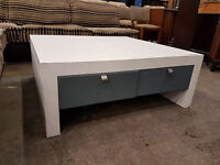Large coffee table with 4 chairs