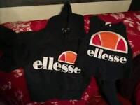 Ellesse crop hoodie & vest