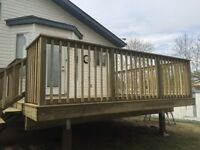 Need a new deck or fence?  Call Triangle Construction