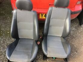 Car Parts / Interior 56 Plate Corsa - Part Leather Front & Back Seats / Door Cards