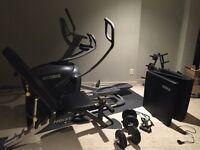 Octane Elliptical, Hoist Weight Bench, weights, TKO pads