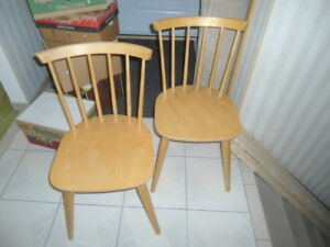 Pair of spindle-back chairs