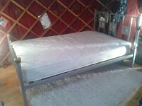 4ft bed, clean and comfy, mattress and frame