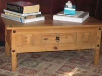 Solid Pine Coffee Table wth drawer