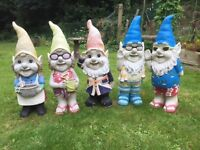 Five garden gnomes 3ft high