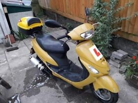 Yellow Moped, 2 seater, 2014, 25 (cc)