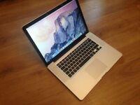 Macbook Pro 15 inch laptop Intel 2.66ghz processor 750gb hard drive