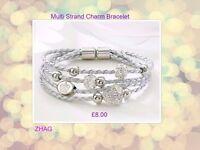 Multi Strand Charm Bracelet