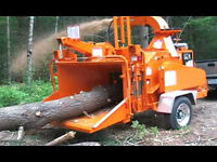 Wood Chipper for hire. Brush chipping