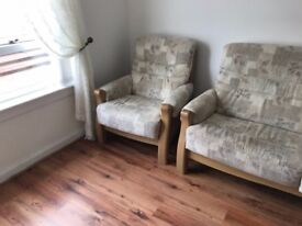 Good As New - Three Piece Sofa Suite For Sale - One 3 Seater and Two Armchairs