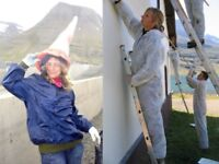 Renovating volunteer houses in the East of Iceland