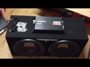 MTX Dual 12 inch bass package