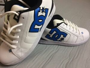 BRAND NEW - NEVER WORN DC SHOES (BLUE, BLACK AND WHITE)