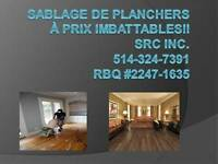 Sablage et finition de planchers