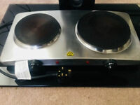 Silver double hot plate £15