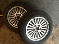 Pair of BMW 5 series alloys