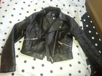 Girls trendy leather look jacket from new look 10/11 years