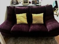 Purple sofa set immaculate condition