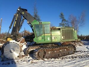 Feller buncher, skidder,log processor and log loader for sale