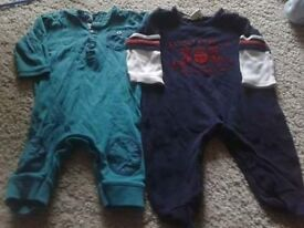 Boys 3-6m romper and dungarees bundle