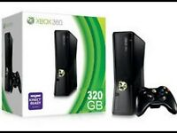 XBOX 360, 320G HARDDRIVE, AND 2 GAMES!