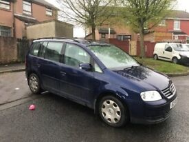 Volkswagen Touran - great family car with built in DVD players in rear
