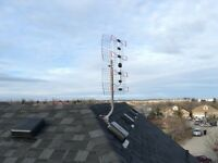 OTA HD antenna and installation complete package $240