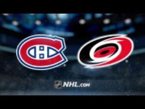 Canadiens vs Hurricanes - 27 Novembre (2X Section Blanc Central)