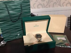 Gold and Silver Rolex Style Watch and Box - $250
