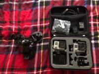 2 x Go Pro Hero 3 with accessories set.