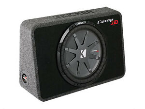 Kicker COMPRT 12IN Slim Loaded Subwoofer Enclosure -New in box